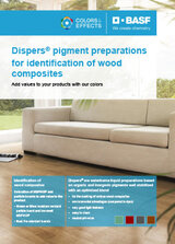 Dispers pigment preparations for identification of Wood Composites