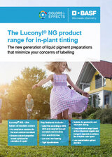 Luconyl NG product range for in-plant tinting