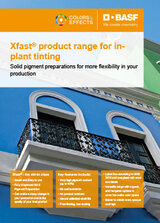 Xfast product range for in-plant tinting