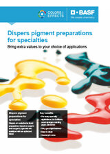 Dispers pigment preparations for specialties
