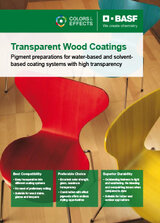 Pigment preparations for transparent Wood Coatings